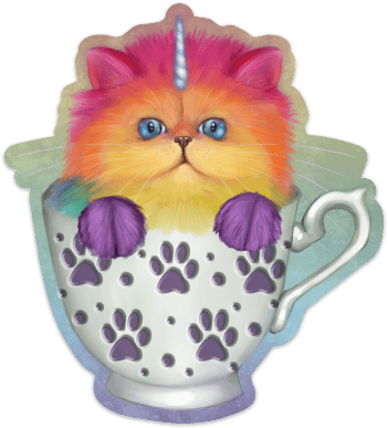 Mewnicorn Tea Kit-Tea Sticker Sticker Ash Evans