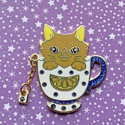 Orange Pekoe Cat Pin Pin Ash Evans