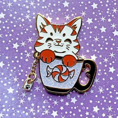 Peppermint Tea Cat Pin Pin Ash Evans