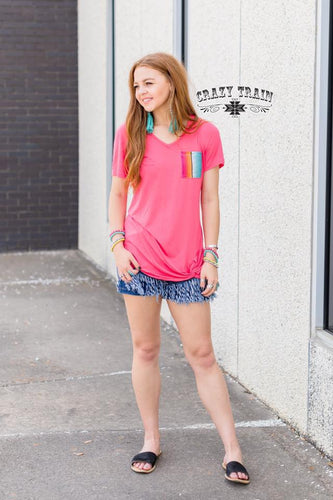 Coral Corral Pocket Knot Top