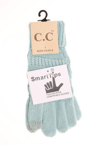 Kids Cable Knit Gloves