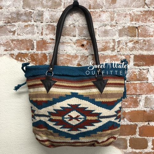 Malibu Purse - Tan & Blue