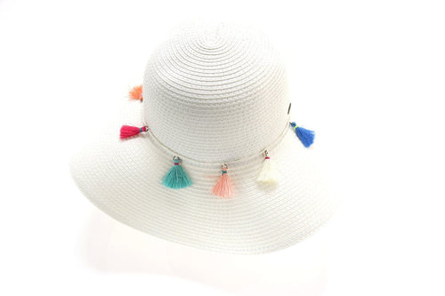 Braided Straw Hat w/ Tassel