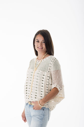 Bone Crochet Layering Top