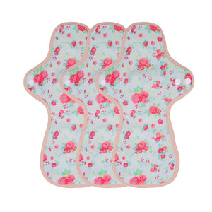 3-piece Panty Liners Plus/Day Pads/Night Pads/Night Pads Plus(Pattern Red)