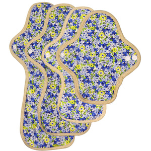 2021 New Arrivals | Small/Regular/Overnight/Ultra Overnight Reusable Menstrual Pad(Pattern Blue)
