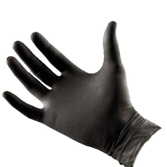 Norvell Black Latex Free Gloves - One Size (Case of 100)