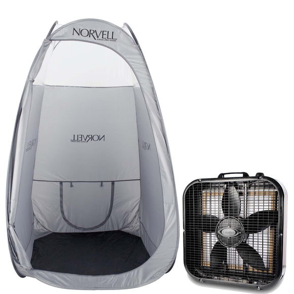Norvell Jumbo Mobile Spray Room & Fan Bundle