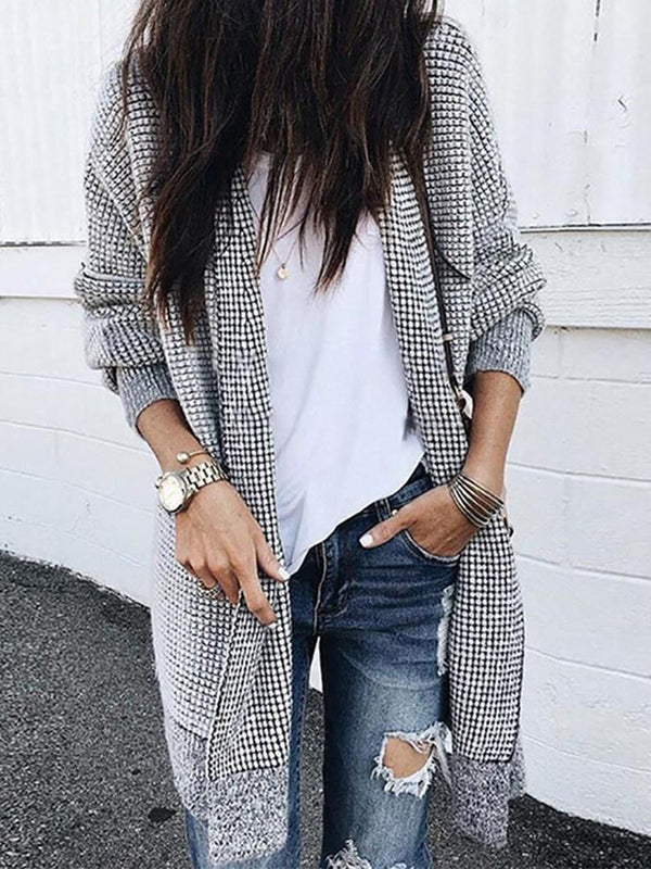 Wrapped Thick Regular Mid-Length Long Sleeve Sweater