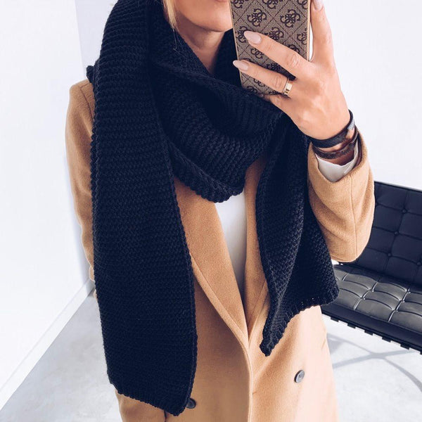 Polyester Casual Scarf Plain Scarves
