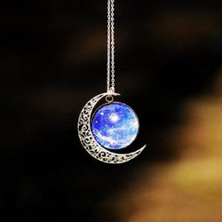 Fancy Starry Sky Vintage Style Women Necklace