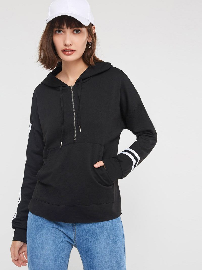 Hooded Zipper Hoodie with Pocket - Comfyfree