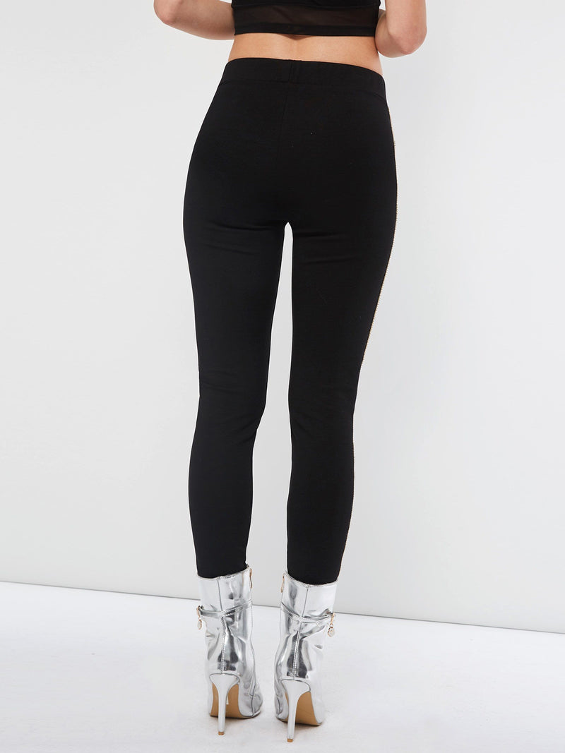 Black Side with Decoration Leggings - Comfyfree