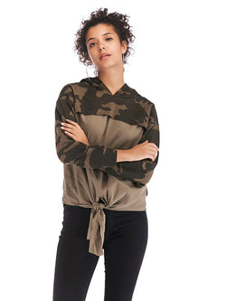 Camouflage Patchwork Hooded Sweatshirts - Comfyfree