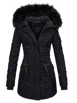 Women's Pure Color Mid-Length Overcoat