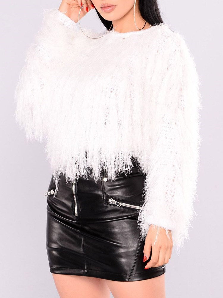 Tassel Cocktail Round Neck Knitwear