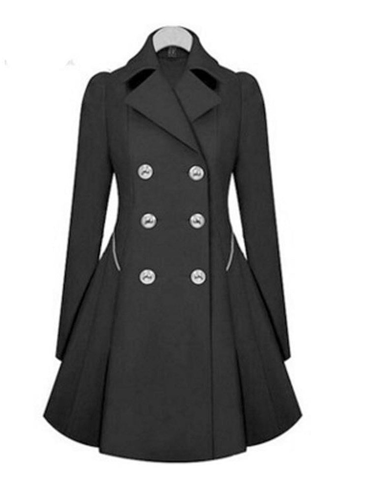 Double-Breasted Mid-Length Trench Coat - Comfyfree
