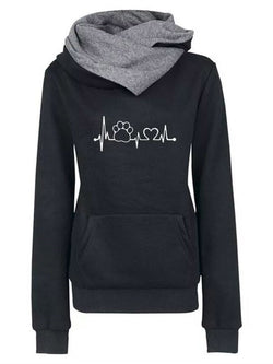Pullover Embroidery Hooded Sweatshirt