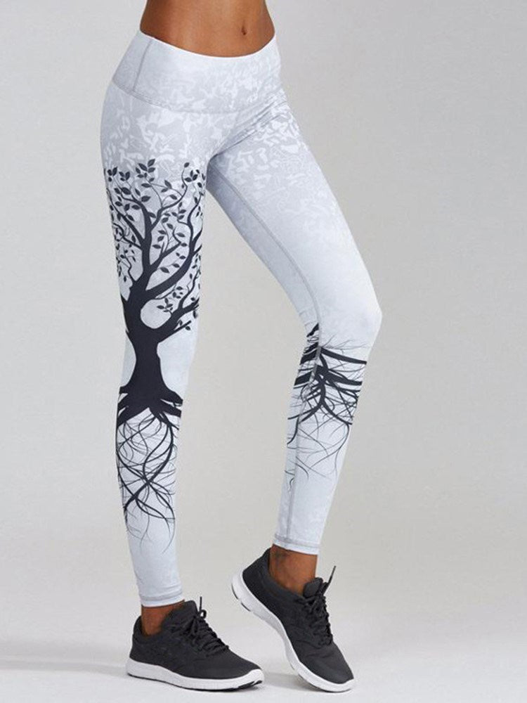 Breathable Polyester Print Yoga Winter Full Length Leggings