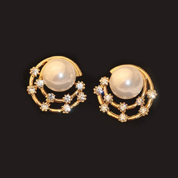 Alloy Korean Spherical Wedding Earrings