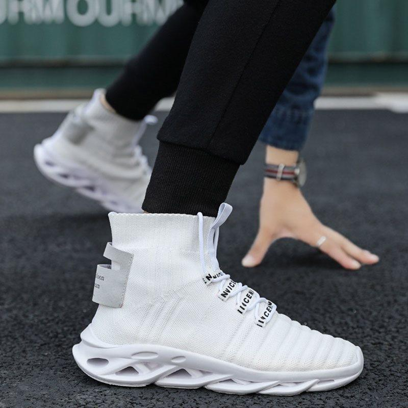 Sports High-Cut Upper Thread Round Toe Sneakers