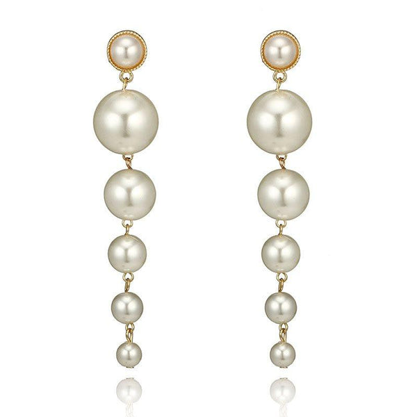 Pearl Inlaid Pearl Geometric Prom Earrings