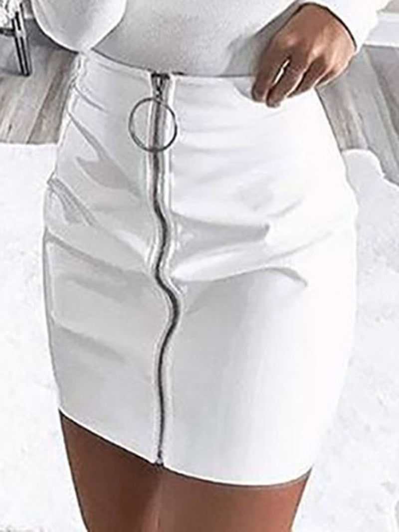 Plain Bodycon Mini Skirt Fashion Skirt