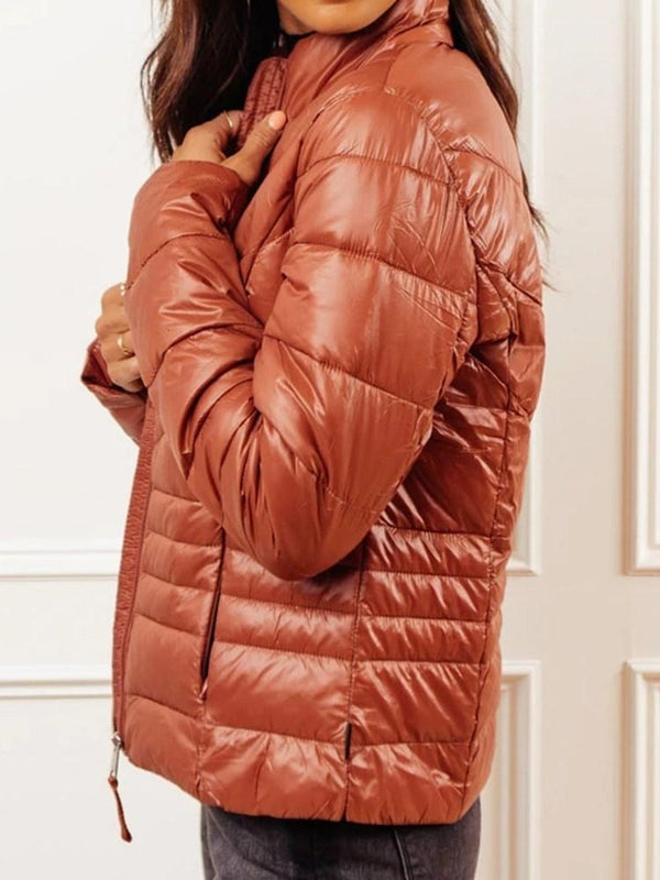 Zipper Slim Thick Standard Cotton Padded Jacket