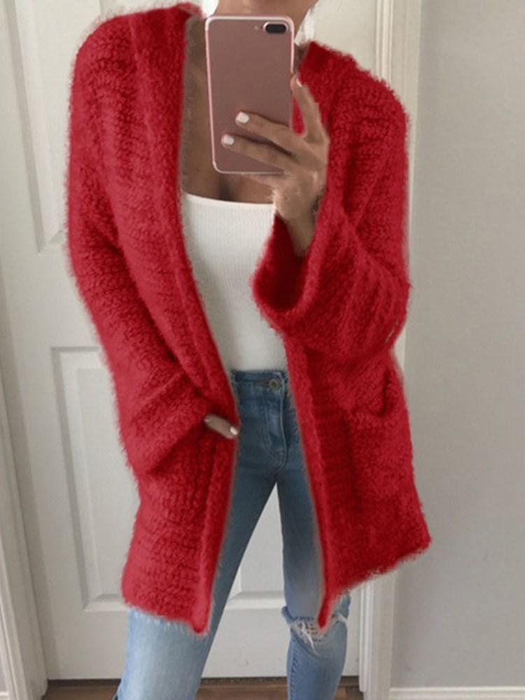 Regular Wrapped Pocket Winter Loose Sweater