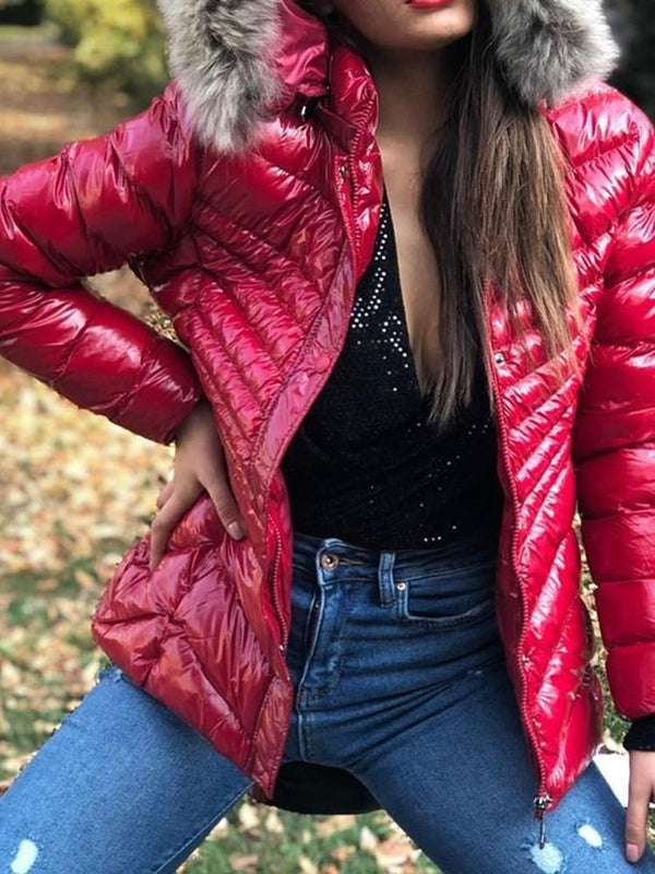 Zipper Zipper Loose Standard Cotton Padded Jacket