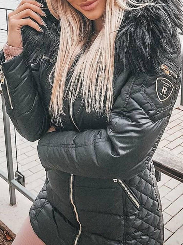 Thick Zipper Zipper Standard Cotton Padded Jacket