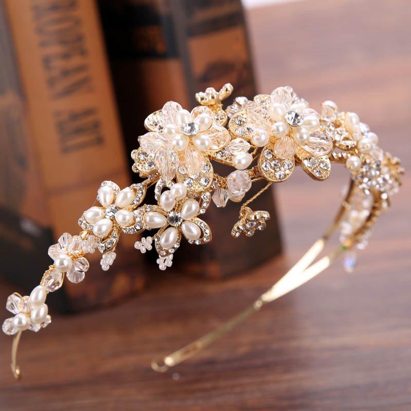Crystal Inlaid Plant Hairband Gift Hair Accessories