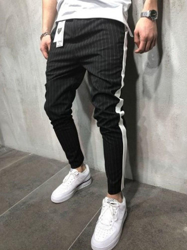 Color Block Pocket Fall European Casual Pants