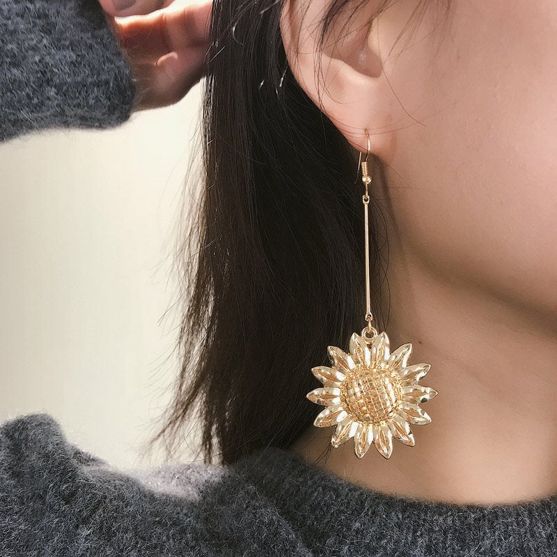 Alloy E-Plating Floral Holiday Earrings