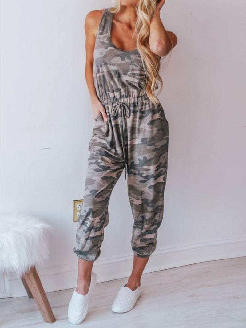Western Color Block Ankle Length Loose Jumpsuit