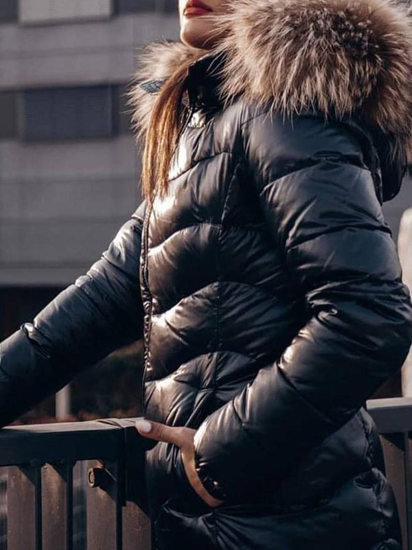 Zipper Thick Loose Standard Cotton Padded Jacket