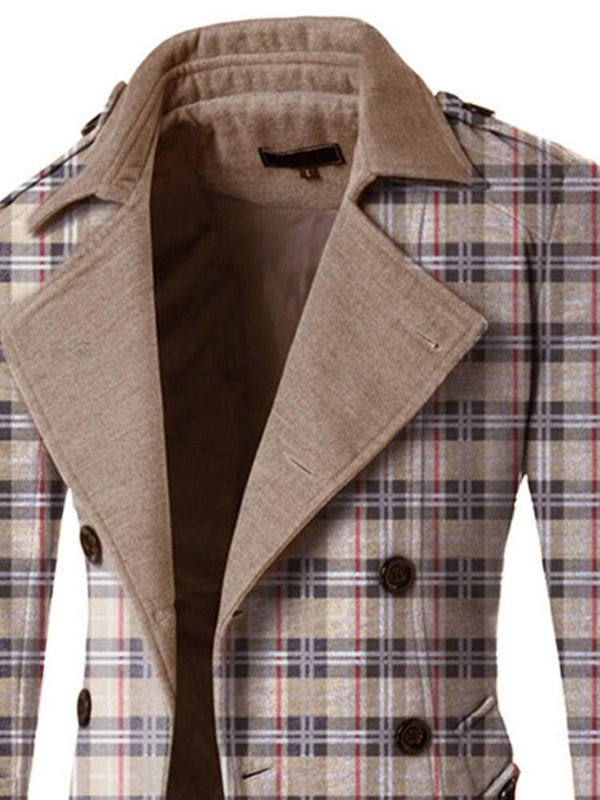 Casual Plaid Double-Breasted leisure Suit