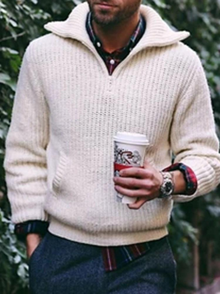 Standard Plain Casual Loose Sweater