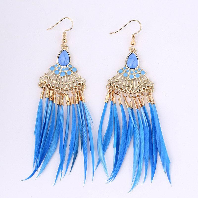European E-Plating Alloy Party Earrings