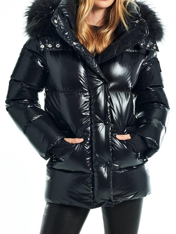 Button Loose Thick Mid-Length Cotton Padded Jacket