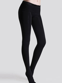 Plain Casual High-Waist Leggings
