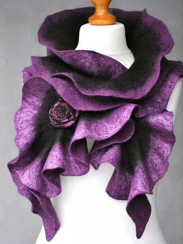 Polyester 3D Fashion Plain Scarves