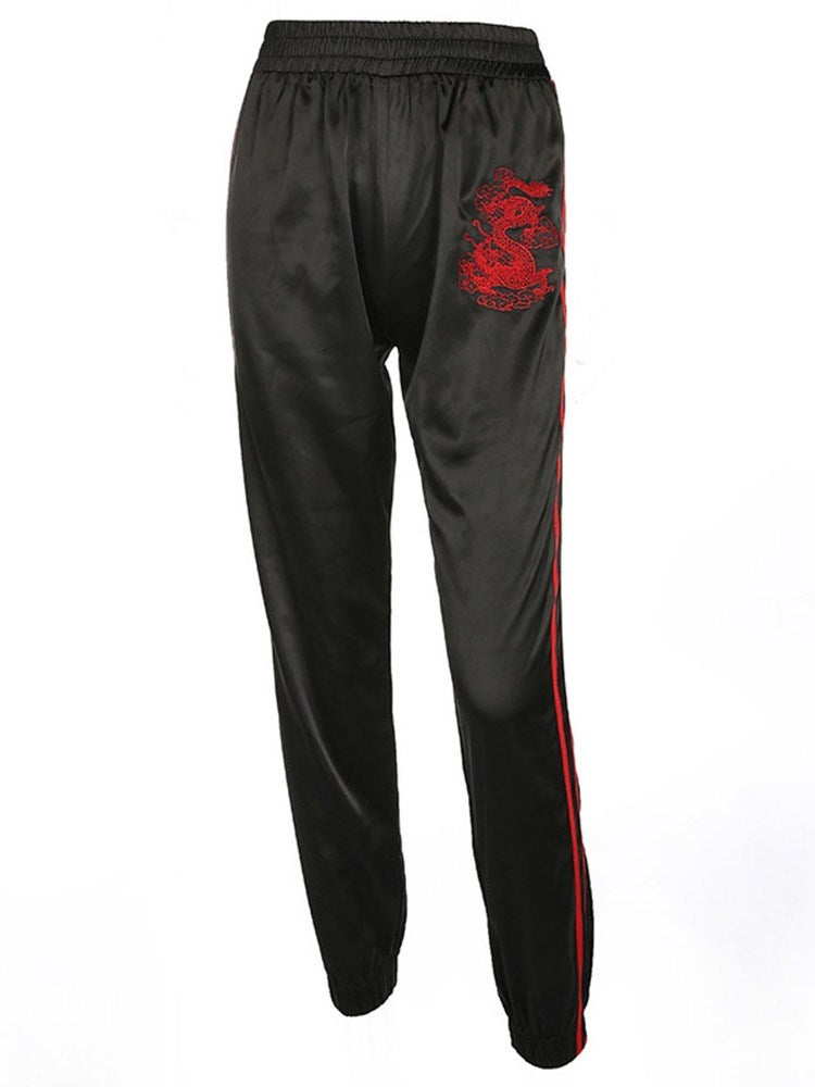 Pleated Loose Full Length Casual Pants