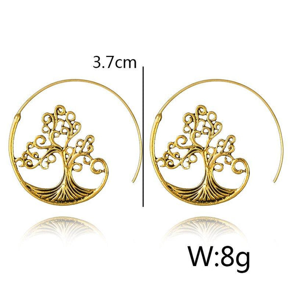 Fashion Vintage Tree Earrings
