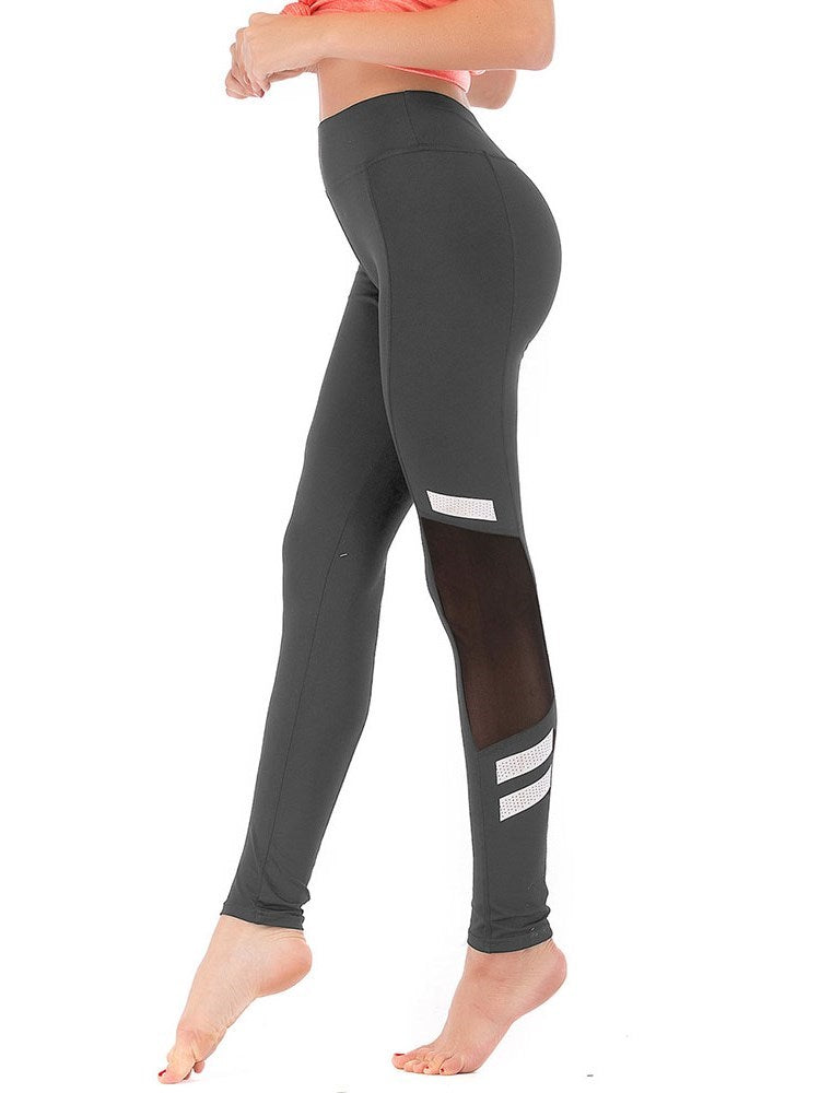 Color Block Sports Patchwork High-Waist Leggings - Comfyfree