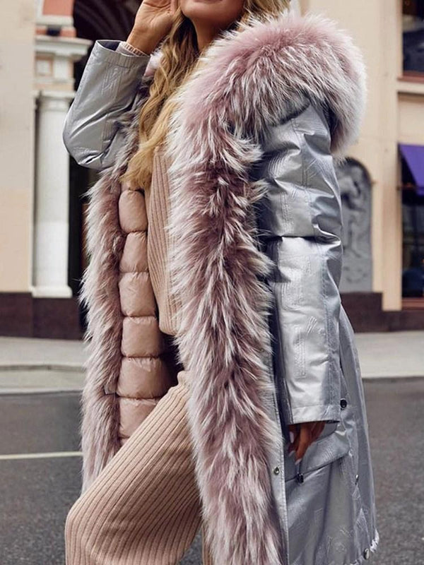 Regular Long Loose Winter Faux Fur Overcoat