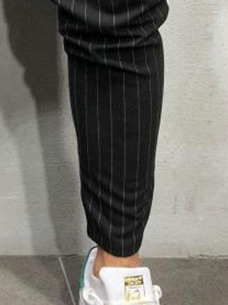 Stripe Pencil Pants Zipper Casual Casual Pants
