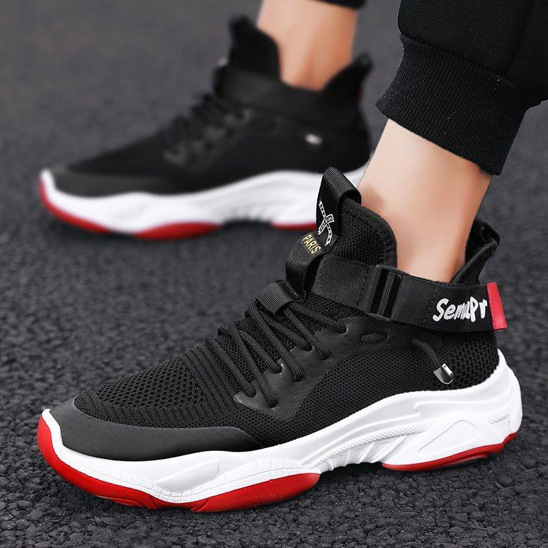 Sports Lace-Up Lace-Up Mesh Sneakers