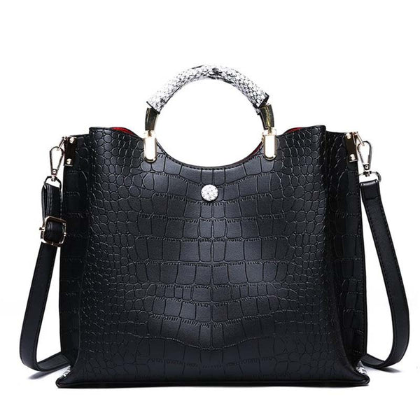PU Thread Alligator Tote Bags