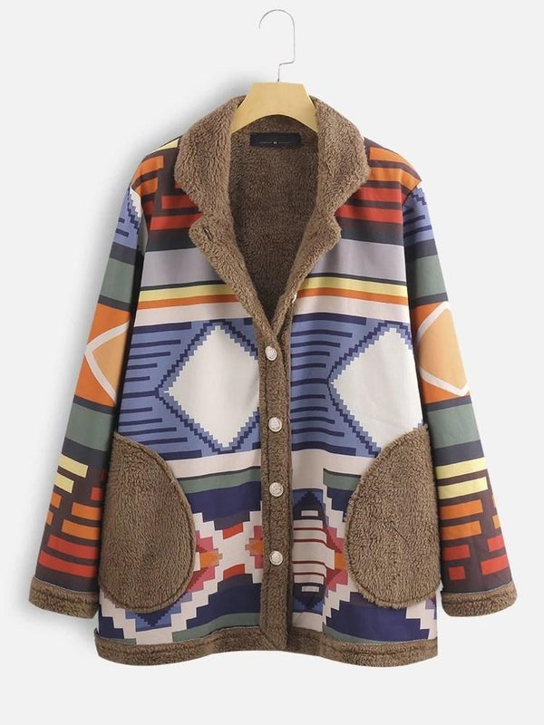 Single-Breasted Patchwork Regular Standard Fall Overcoat